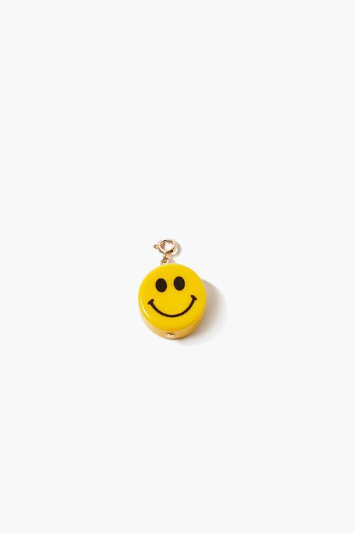 YELLOW Smiling Face Charm, image 1