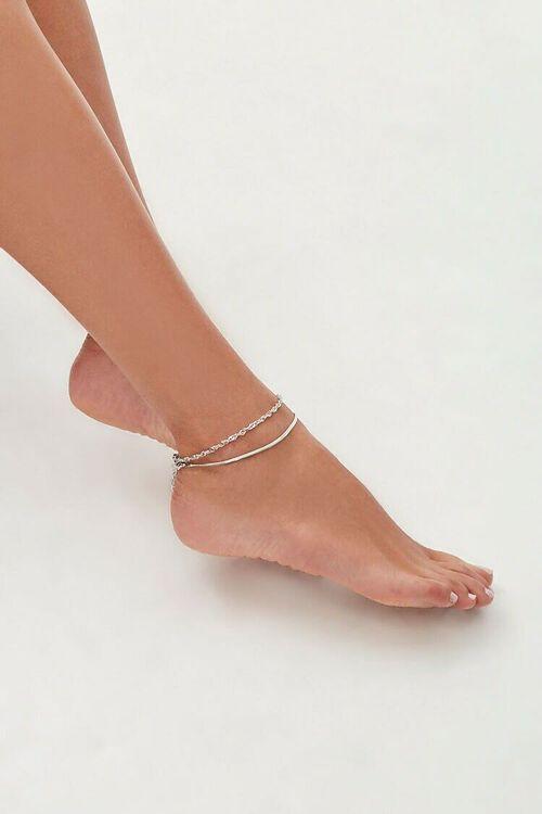 Snake & Twisted Chain Anklet Set, image 1