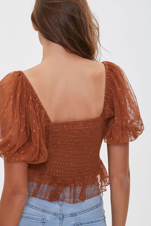 Dotted Mesh Cutout Top, image 3