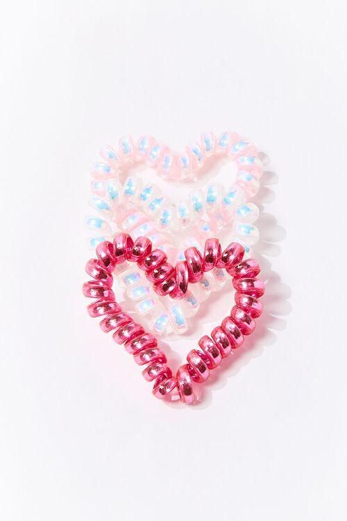Heart Spiral Hair Tie Set, image 2