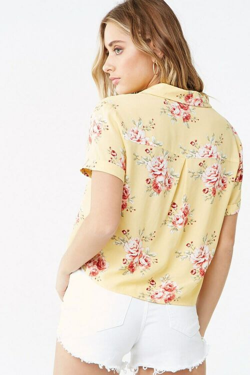 Floral Cuffed-Sleeve Shirt, image 3