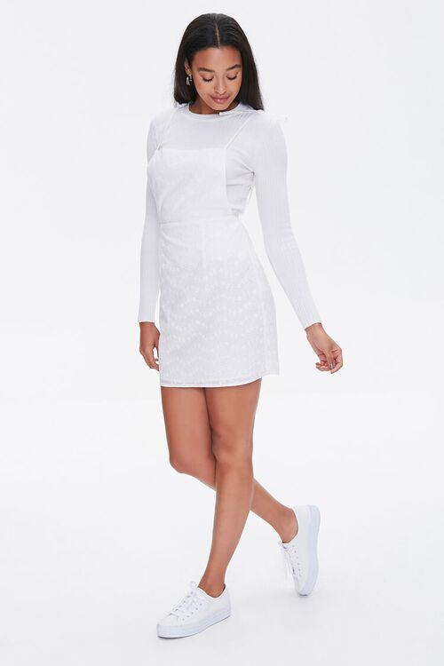 Eyelet Pinafore Dress, image 4