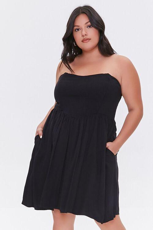 Plus Size Strapless Princess Dress, image 1