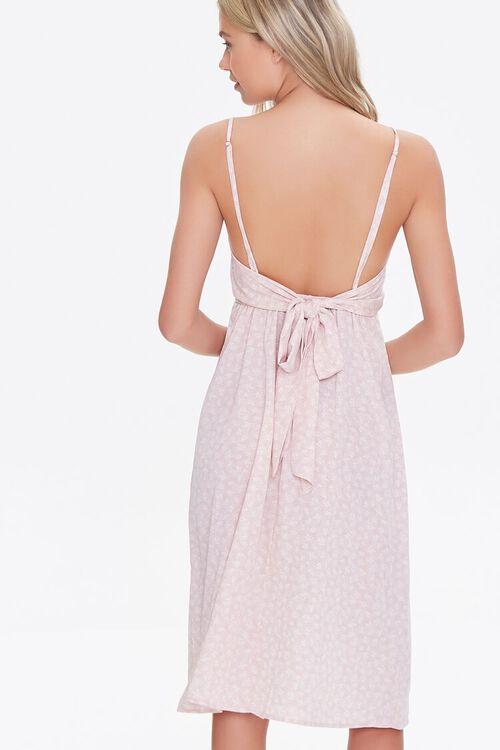 Leaf Print Tie-Back Dress, image 3