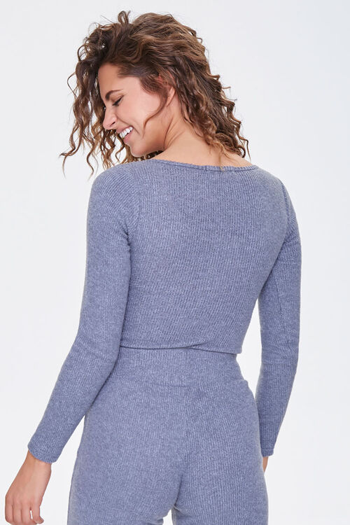 Ribbed Knit Henley Bodysuit, image 3