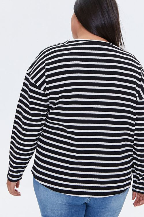 Plus Size Striped Drop-Sleeve Top, image 3
