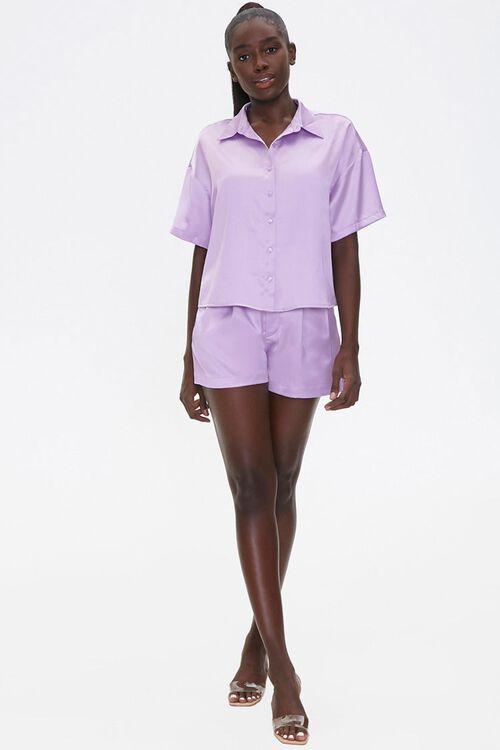 Satin Shirt & Shorts Set, image 4