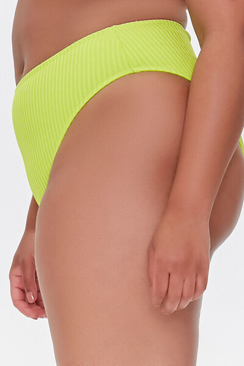 Plus Size Ribbed Bikini Bottoms, image 3