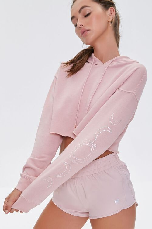 Active Cropped French Terry Hoodie, image 1