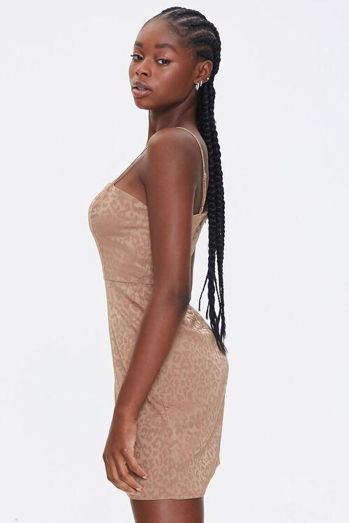 Satin Leopard Print Dress, image 2