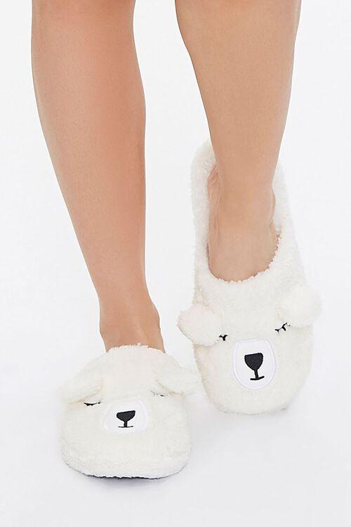 Faux Shearling Teddy Bear Slippers, image 4