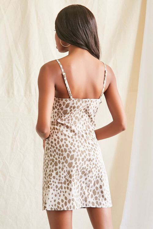 GREY/MULTI Spotted Print Cami Mini Dress, image 3