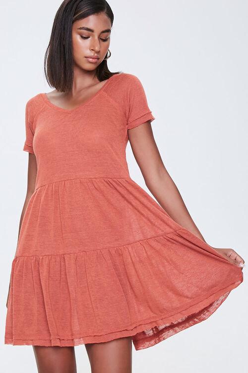 Tiered Mini Dress, image 1