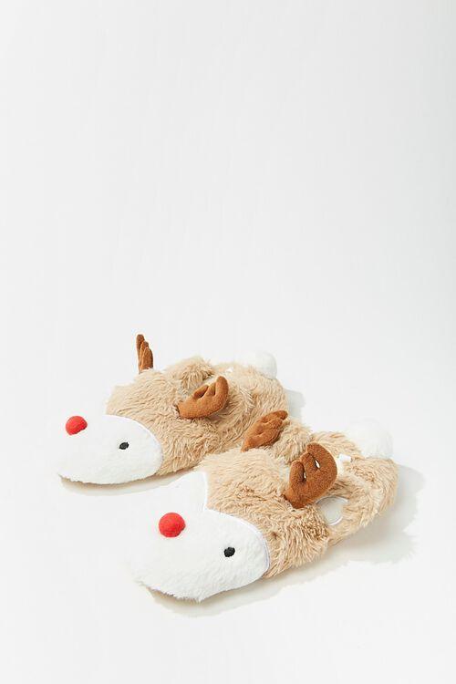 Plush Reindeer Slippers, image 1