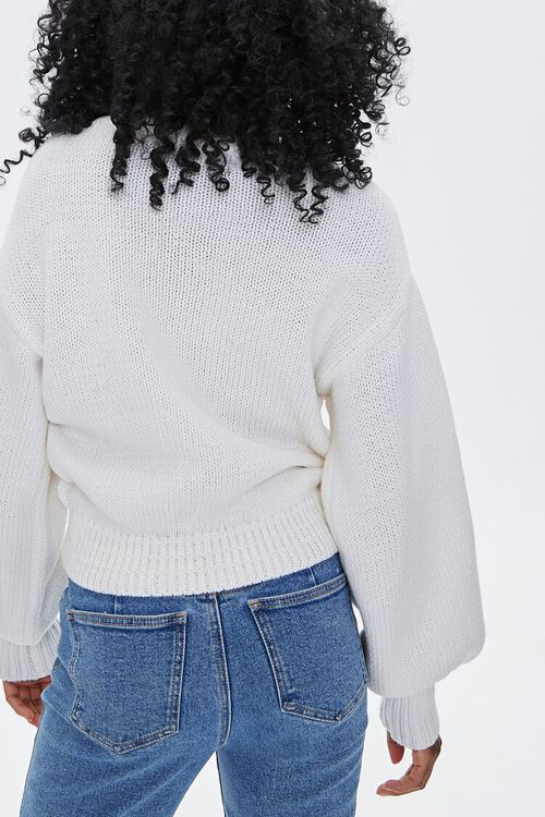 Floral Open-Knit Sweater, image 3