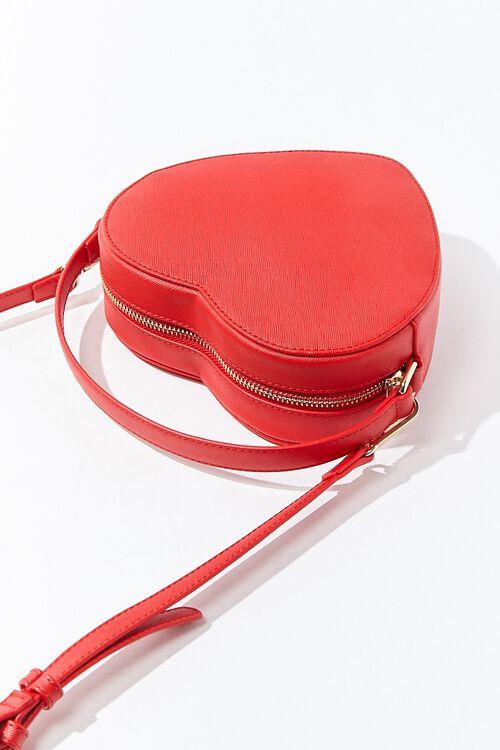 RED Heart-Shaped Crossbody Bag, image 3