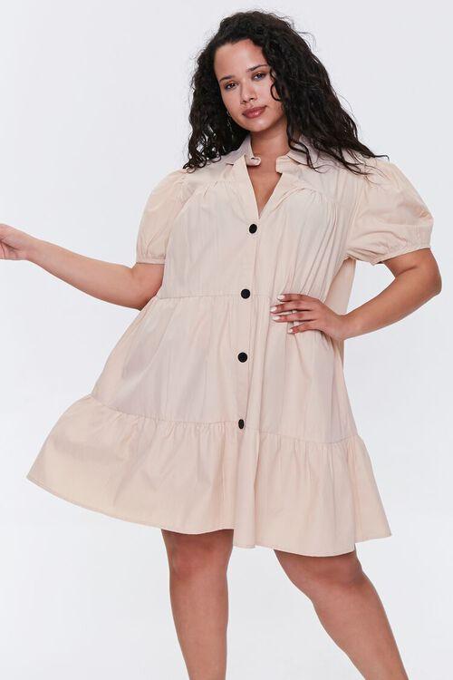 Plus Size Tiered Mini Dress, image 1