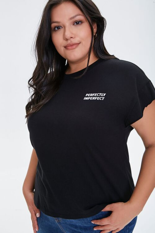 Plus Size Perfectly Imperfect Graphic Tee, image 1