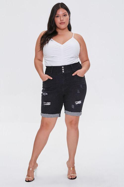 Plus Size Denim Bermuda Shorts, image 5