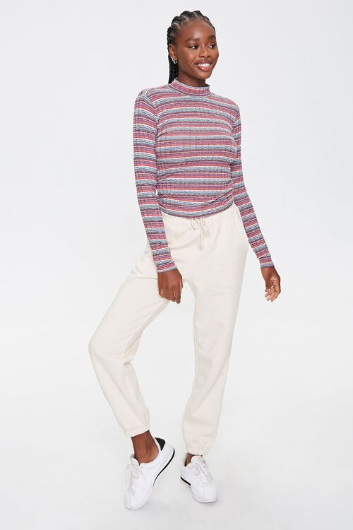 Striped Waffle Knit Top, image 4