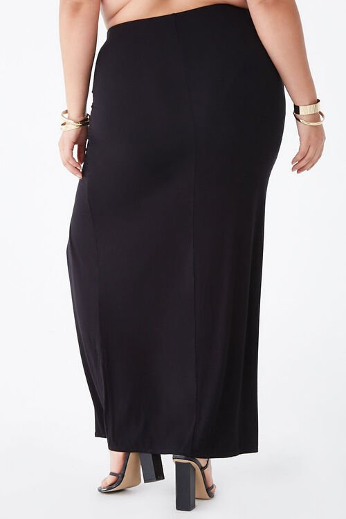 Plus Size Ruched Maxi Skirt, image 4