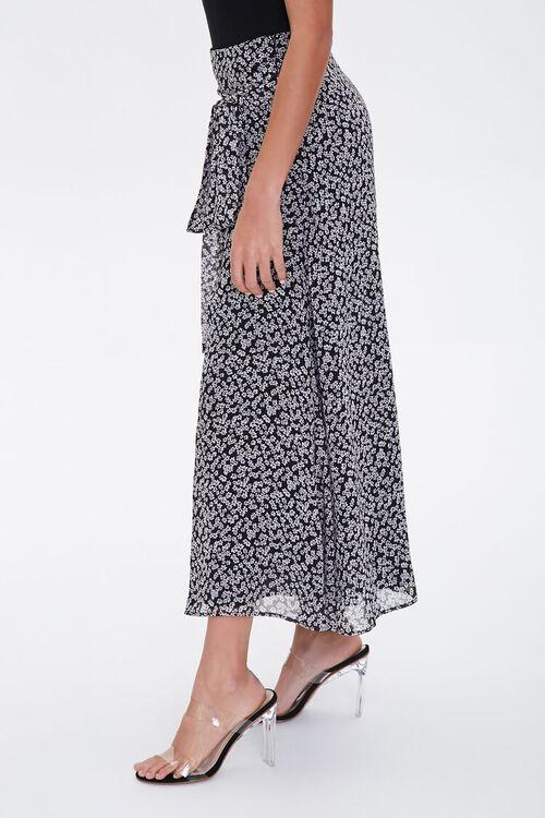 Floral Tie-Waist Midi Skirt, image 2