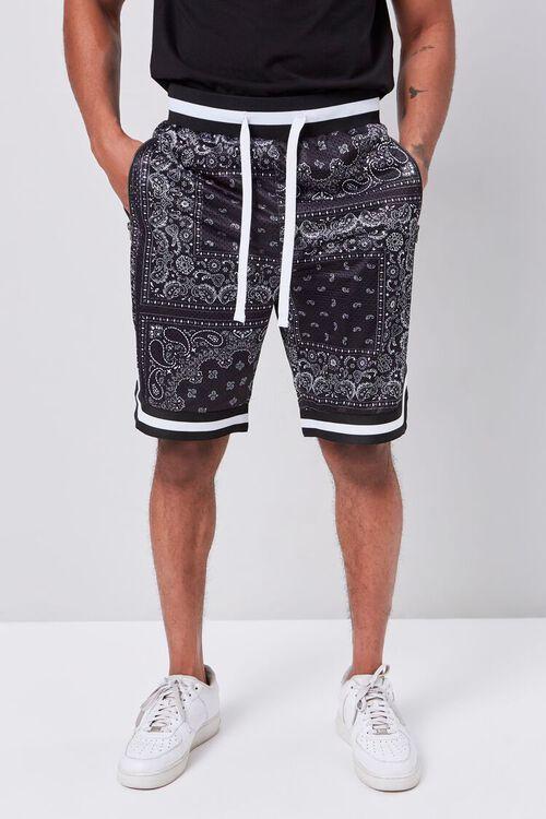 Bandana Print Drawstring Shorts, image 2