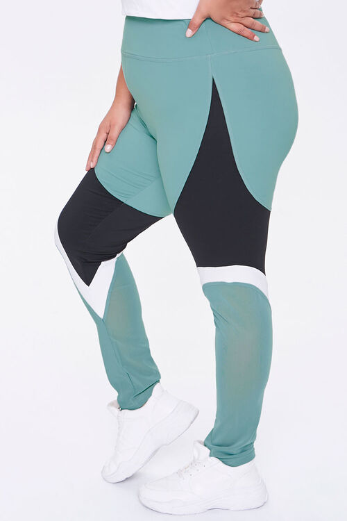 Plus Size Active Colorblock Leggings, image 3
