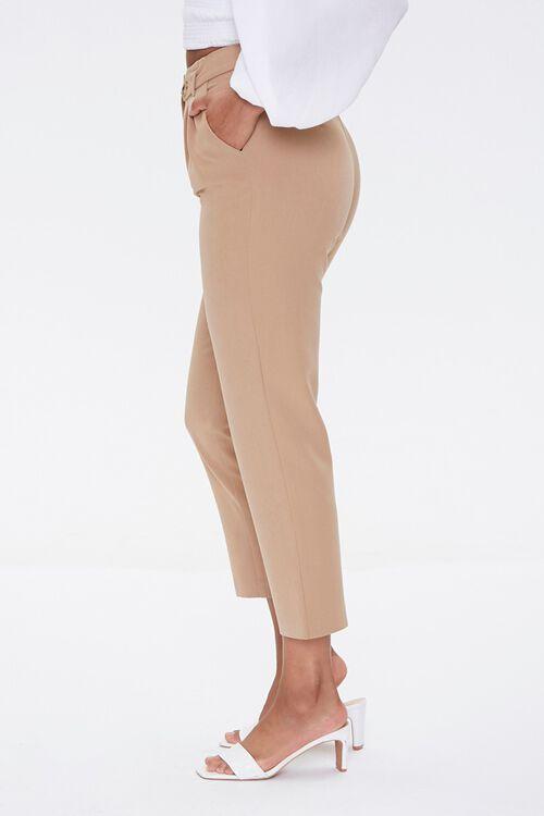 TAUPE Tab-Waist Ankle Pants, image 3