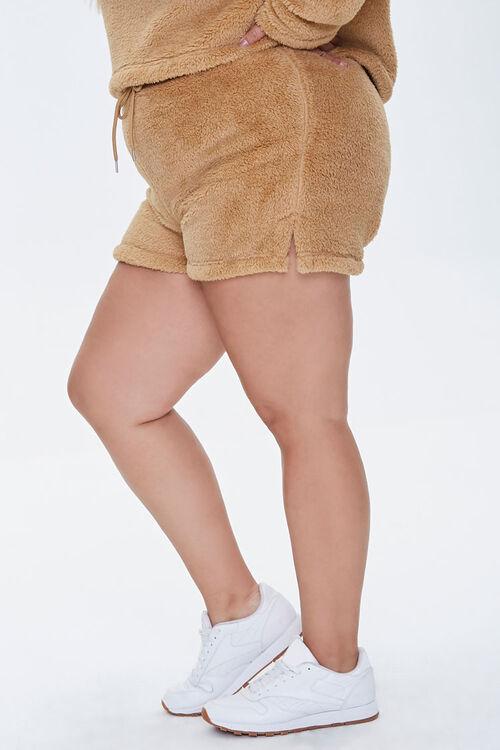 Plus Size Fuzzy Shorts, image 3