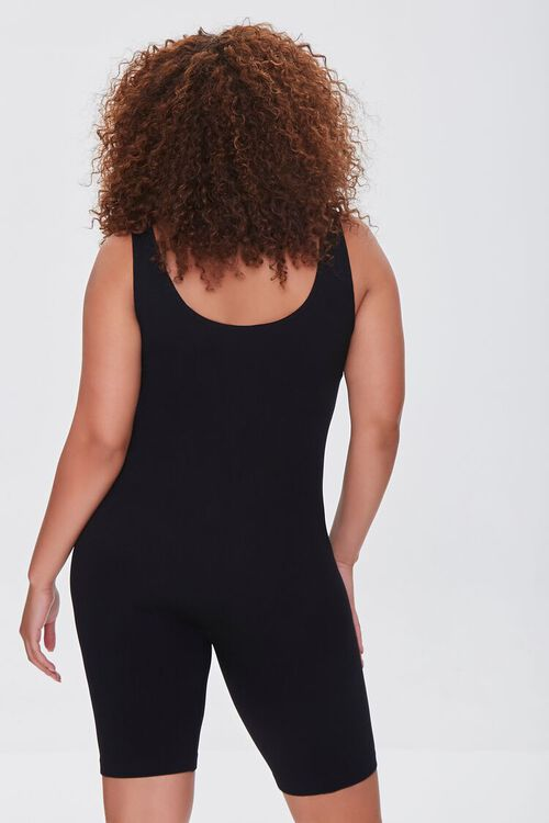 Plus Size Sleeveless Fitted Romper, image 3