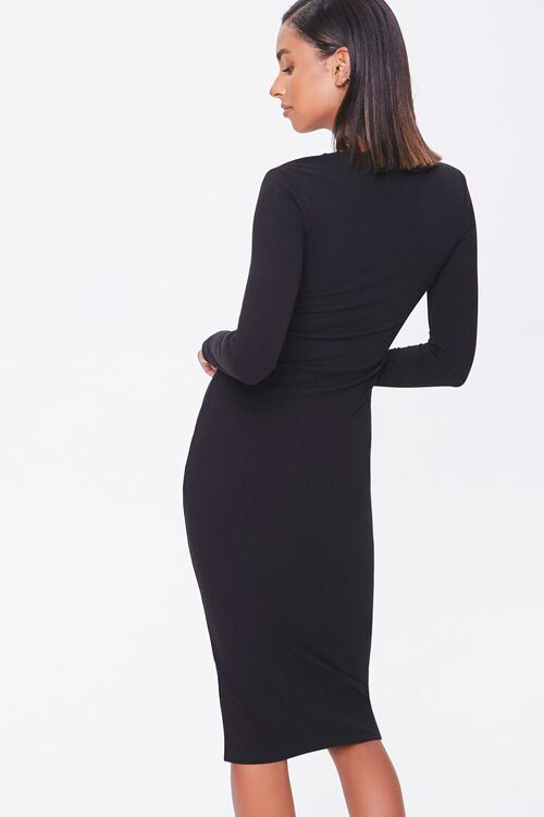 Button-Front Midi Dress, image 3