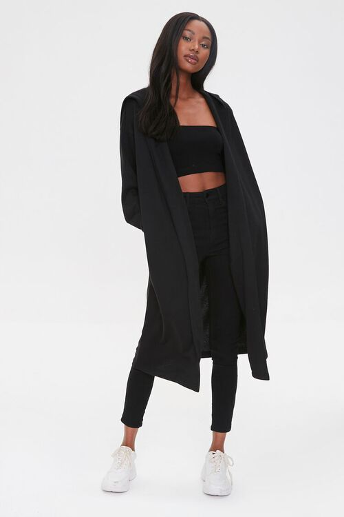 Fleece Hooded Duster Jacket, image 4