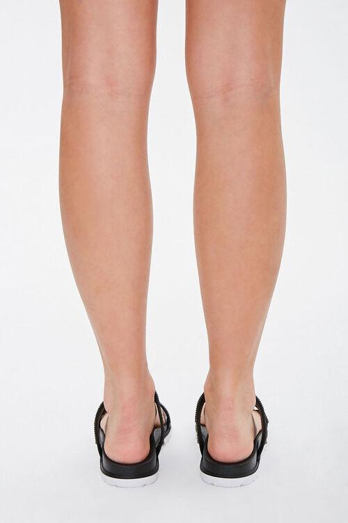 Faux Gem Double-Strap Sandals, image 4