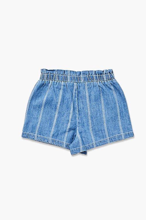 Girls Striped Denim Shorts (Kids), image 2