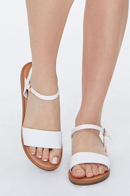 Faux Leather Flat Sandals, image 4