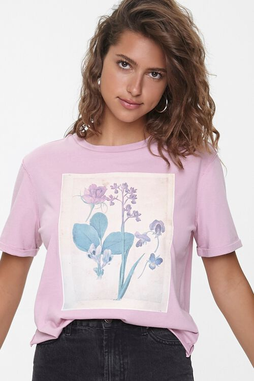 Floral Graphic Crew Tee, image 1