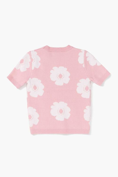 Girls Floral Sweater-Knit Top (Kids), image 2