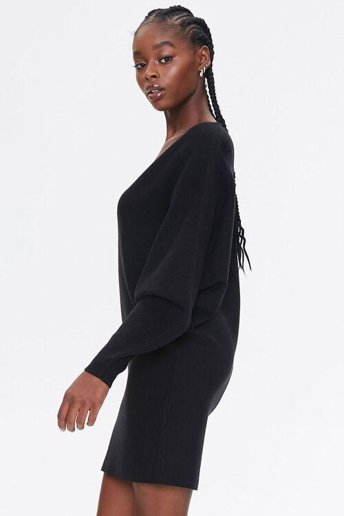 Batwing-Sleeve Sweater Dress, image 2