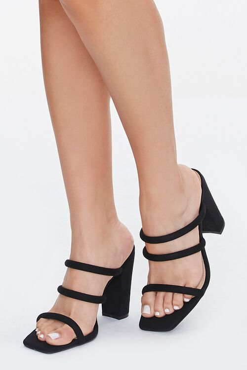Strappy Square-Toe Block Heels, image 1