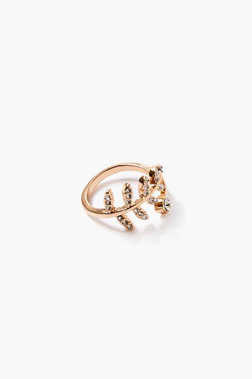 Faux Gem Leaf Ring, image 2
