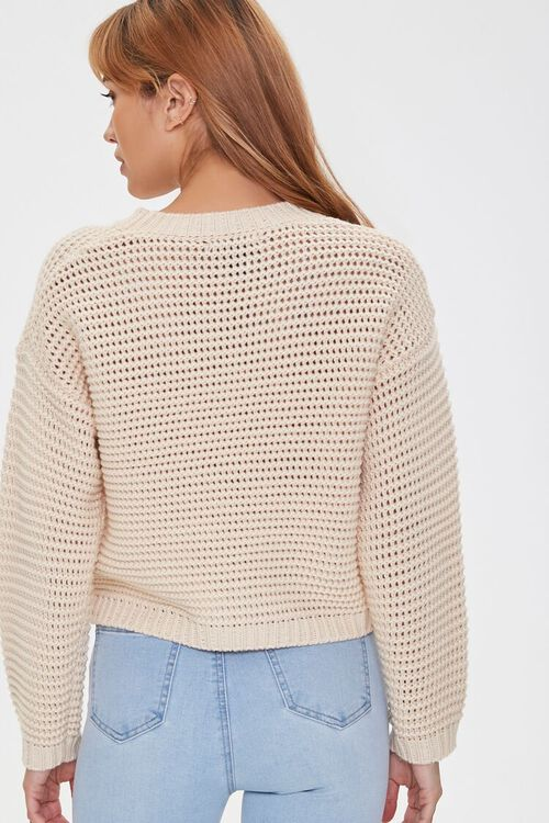 Cropped Open-Knit Sweater, image 3