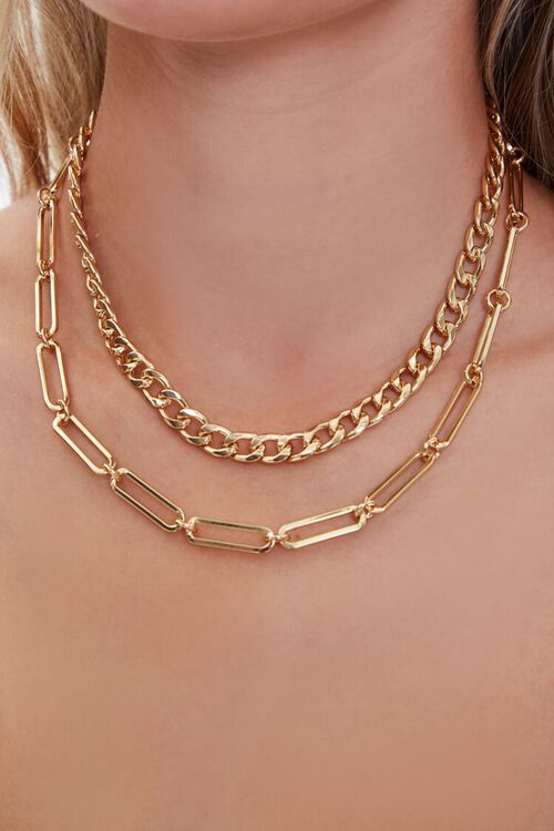 Layered Chain Necklace, image 1