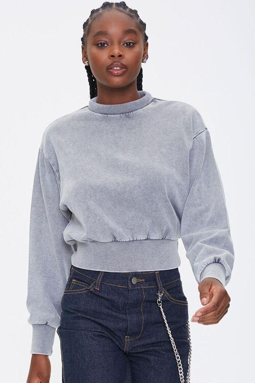 Fleece Mock Neck Pullover, image 1