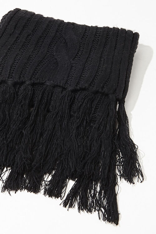 Cable Knit Oblong Scarf, image 3