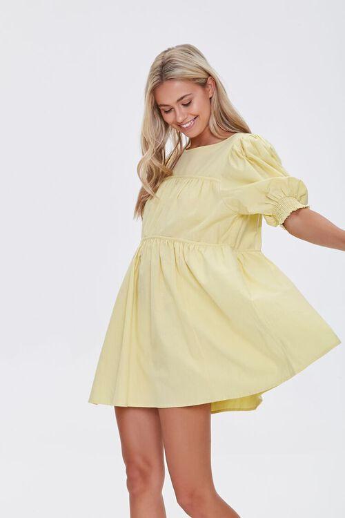 Puff-Sleeve Mini Dress, image 1