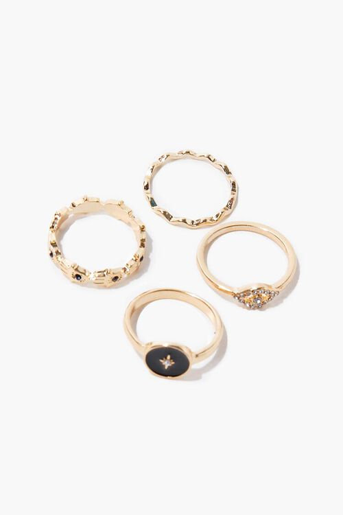 Eye Charm Ring Set, image 1