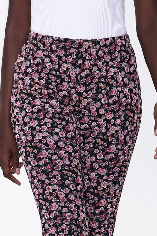 Floral Print Flare Pants, image 5