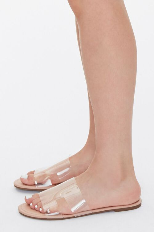 Faux Leather Clear-Strap Sandals, image 2