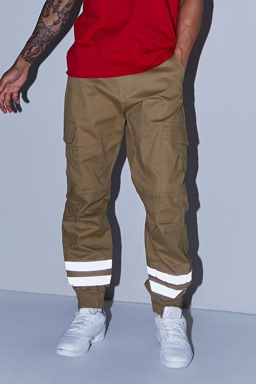 Reflective-Trim Cargo Joggers, image 5
